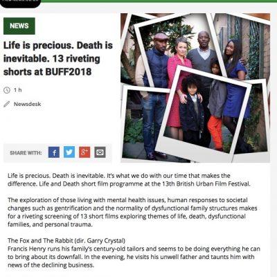 @buffenterprises Life & Death shorts featured by @filmnewsweb