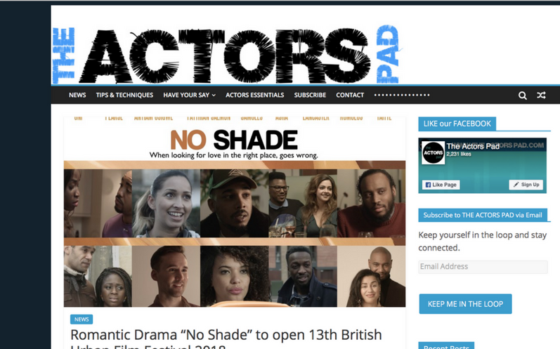 @TheActorsPad features @Noshadefilm opening @buffenterprises June 5th. Last remaining tickets available
