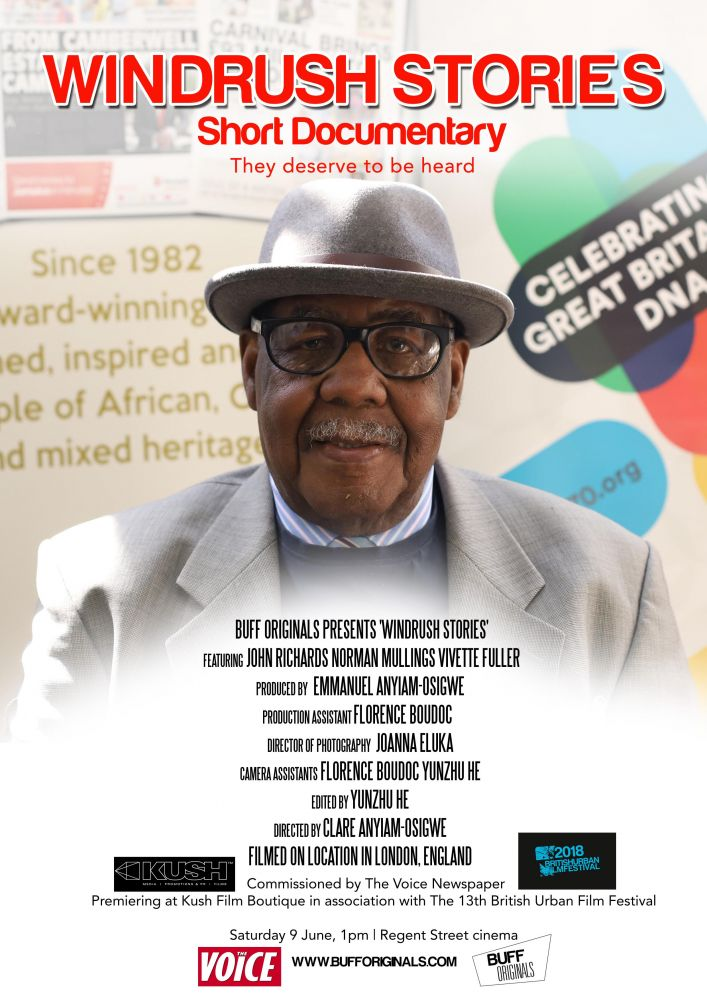 @buffenterprises @kushfilms Presents Windrush 70 incl. @windrushstories @regentstcinema Sat 9 June
